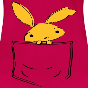 Pocket Bunny Rabbit T-Shirts - Women's Premium T-Shirt