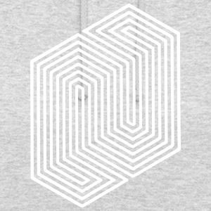 Optical Illusion (Impossible Minimal B & W Lines) Gensere - Unisex-hettegenser