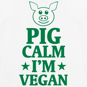 PIG STAY COOL - I'M VEGAN! T-Shirts - Men's Breathable T-Shirt