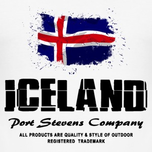 Iceland - Cuba Flag Logo T-Shirts - Männer Slim Fit T-Shirt