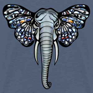 African elephant with butterfly ears, africa, art, Shirts - Teenage Premium T-Shirt