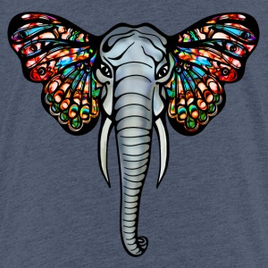 Elefant mit Schmetterling Ohren, Afrika, Safari T- - Teenager Premium T-Shirt