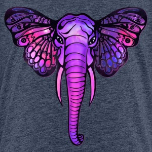 Space elephant, butterfly ears, galaxy, africa, Shirts - Teenage Premium T-Shirt