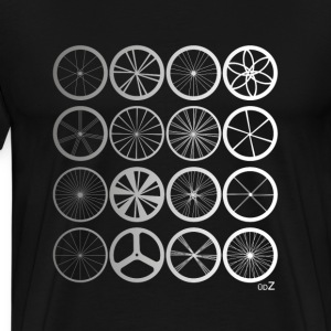 Bike wheels land silver Tee shirts - T-shirt Premium Homme