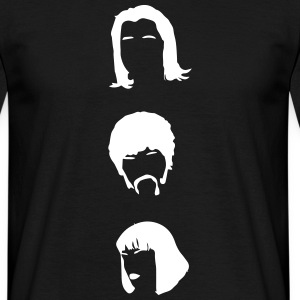 Pulp Fiction Three Heads pf01 Shirt schwarz/weiss - Männer T-Shirt
