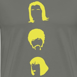 Pulp Fiction Three Heads pf01 Shirt braun - Männer Premium T-Shirt
