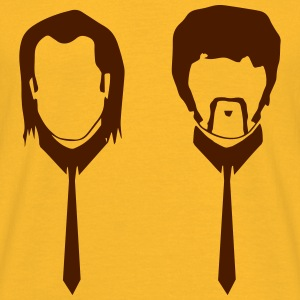Pulp Fiction Vincent and Jules pf02 Shirt gelb - Männer T-Shirt