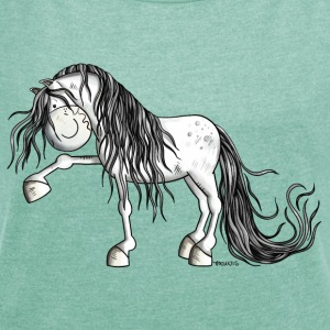 Andalusian Horse T-Shirts - Women's T-shirt with rolled up sleeves