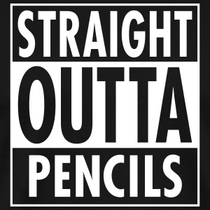 Straight Outta Pencils T-shirts - Herre premium T-shirt