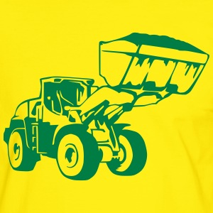 Radlader, Wheel Loader (1 color) T-Shirts - Männer Kontrast-T-Shirt