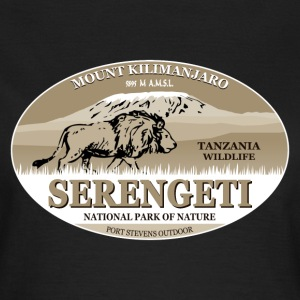 Serengeti - Mount Kilimanjaro - Lion Safari  T-Shirts - Frauen T-Shirt