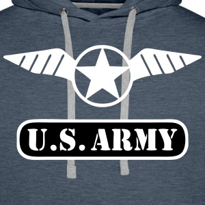 us army 06 Sweat-shirts - Sweat-shirt à capuche Premium pour hommes