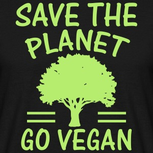 SAVE THE PLANET - BECOME VEGANS! T-Shirts - Men's T-Shirt