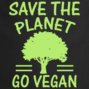 SAVE THE PLANET - BECOME VEGANS!  Aprons - Cooking Apron