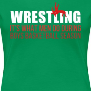 Boys Basketball Season Wrestling T Shirt T-Shirts - Women's Premium T-Shirt