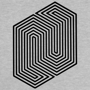 Optical Illusion (Impossible Minimal B & W Lines) Baby shirts - Baby T-shirt