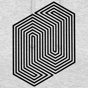 Optical Illusion (Impossible Minimal B & W Lines) Sweatshirts - Hættetrøje unisex