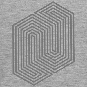 Optical Illusion (Impossible Minimal B & W Lines) Long Sleeve Shirts - Teenagers' Premium Longsleeve Shirt
