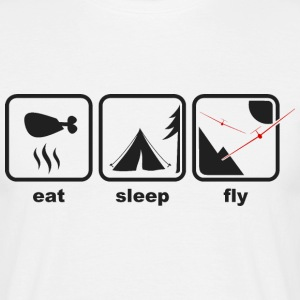 eat sleep fly T-Shirts - Männer T-Shirt