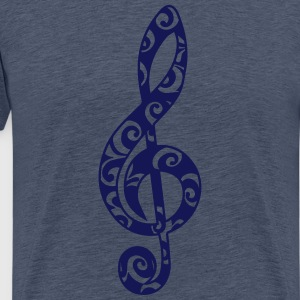 Music, note, clef, sheet, bass, choir, musician T-shirts - Herre premium T-shirt