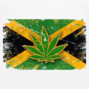 Jamaica Cannabis Vintage Flag Tops - Frauen Premium Tank Top