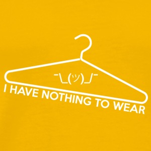 Sonnengelb Nothing to Wear T-Shirts - Männer Premium T-Shirt