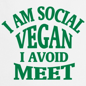 I'M SOCIAL VEGAN - I AVOID MEAT!  Aprons - Cooking Apron