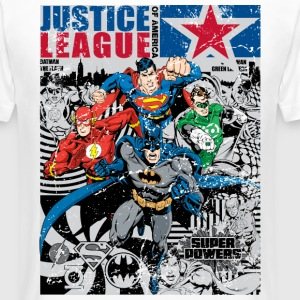 Justice League Comic Cover - T-shirt long homme