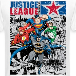 Justice League Comic Cover - Männer Urban Longshirt