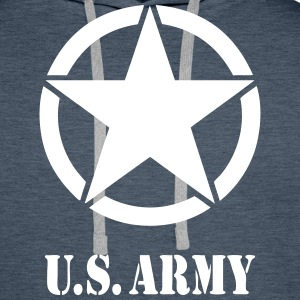 US Army 07 Sweat-shirts - Sweat-shirt à capuche Premium pour hommes
