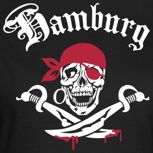 BEIDSEITIG Piratenkopf Skull Hamburg - The One and - Frauen T-Shirt