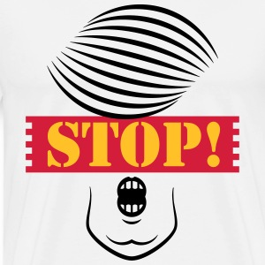 Stop Trump! (Caricature Of Donald Trump) T-Shirts - Men's Premium T-Shirt