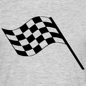 Flag Race Car Destination Motorcycle T-Shirts - Men's T-Shirt
