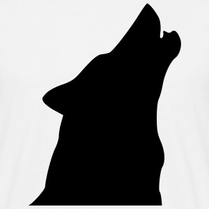 Dog Wolf Howl T-Shirts - Men's T-Shirt