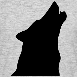 Chien Loup Hurlement Tee shirts - T-shirt Homme