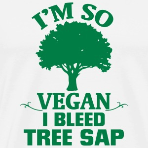I'M SOOO VEGAN - I FLOWERING TREE RESIN! T-Shirts - Men's Premium T-Shirt