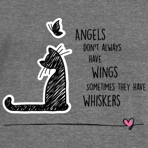 Cat angels Hoodies & Sweatshirts - Women's Boat Neck Long Sleeve Top