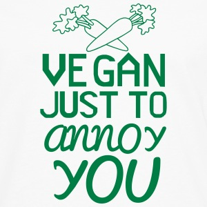 VEGAN - ONLY TO YOU TO NERVE! Long sleeve shirts - Men's Premium Longsleeve Shirt