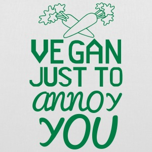 VEGAN - ONLY TO YOU TO NERVE! Bags & Backpacks - Tote Bag