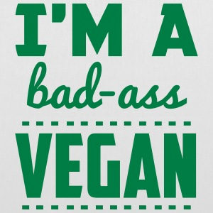 I'M A BAD-ASS VEGAN! Bags & Backpacks - Tote Bag