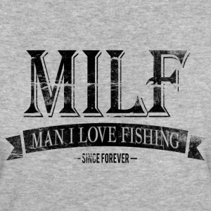 MILF / Man I Love Fishing / black grunge Magliette - T-shirt ecologica da donna