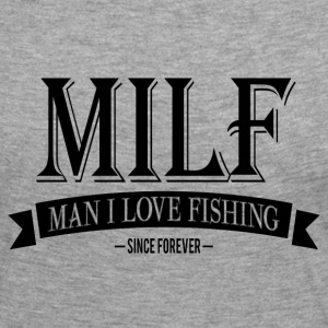 MILF / Man I Love Fishing / black Manga larga - Camiseta de manga larga premium mujer