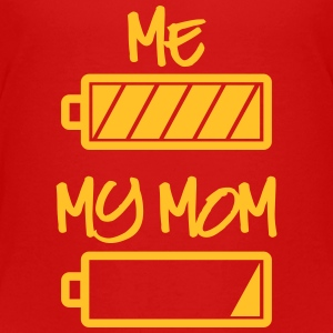 me my mom batterie T-Shirts - Kinder Premium T-Shirt