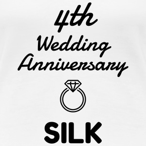 4 Silk - Birthday Wedding - Marriage - Love - Wife T-skjorter - Premium T-skjorte for kvinner