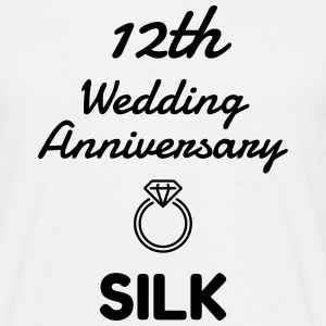 12 Silk - Birthday Wedding - Marriage - Love T-shirts - Mannen T-shirt