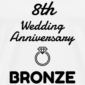 8 Bronze - Birthday Wedding - Marriage - Love T-shirts - Herre premium T-shirt