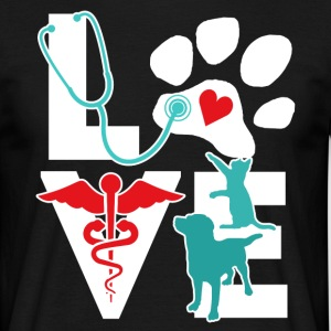 Veterinarian Love Cat and Dog Veterinary T Shirt T-Shirts - Men's T-Shirt