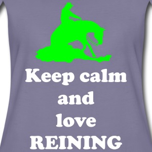 keep calm and love reining T-Shirts - Frauen Premium T-Shirt