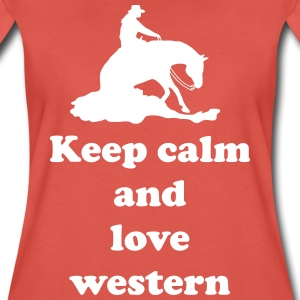 keep calm and love western T-Shirts - Frauen Premium T-Shirt