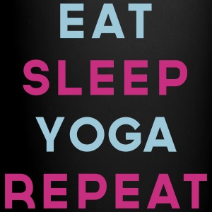 Eat Sleep Yoga Repeat Quote Mugs & Drinkware - Full Colour Mug